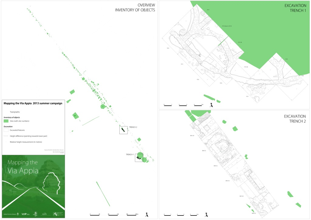 2013 Excavation Campaign Map - Mapping the Via Appia 150dpi med[1].jpg